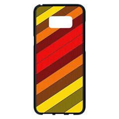 Abstract Bright Stripes Samsung Galaxy S8 Plus Black Seamless Case