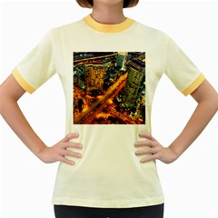 Hdri City Women s Fitted Ringer T Shirts