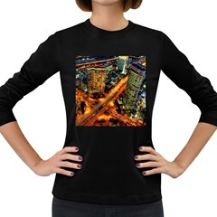 Hdri City Women s Long Sleeve Dark T Shirts