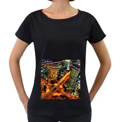 Hdri City Women s Loose-Fit T-Shirt (Black)