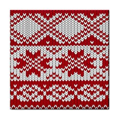 Crimson Knitting Pattern Background Vector Tile Coasters