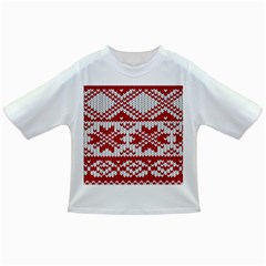 Crimson Knitting Pattern Background Vector Infant/Toddler T-Shirts