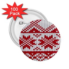 Crimson Knitting Pattern Background Vector 2.25  Buttons (100 pack)