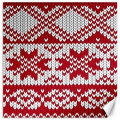 Crimson Knitting Pattern Background Vector Canvas 12  X 12