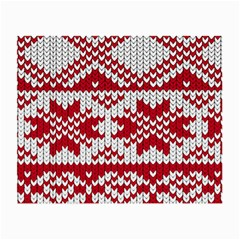 Crimson Knitting Pattern Background Vector Small Glasses Cloth (2 Side)
