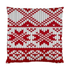 Crimson Knitting Pattern Background Vector Standard Cushion Case (one Side)
