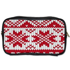 Crimson Knitting Pattern Background Vector Toiletries Bags 2 Side
