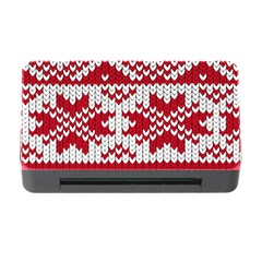 Crimson Knitting Pattern Background Vector Memory Card Reader With Cf