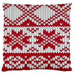 Crimson Knitting Pattern Background Vector Large Cushion Case (Two Sides)