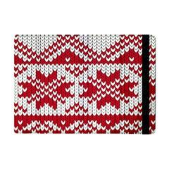 Crimson Knitting Pattern Background Vector Apple Ipad Mini Flip Case