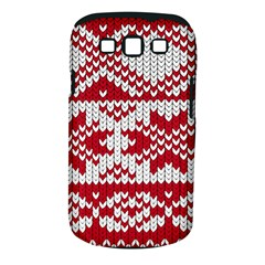 Crimson Knitting Pattern Background Vector Samsung Galaxy S III Classic Hardshell Case (PC+Silicone)