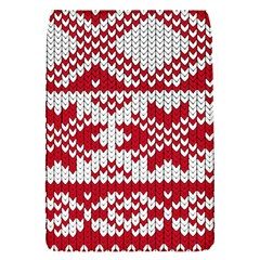 Crimson Knitting Pattern Background Vector Flap Covers (s)