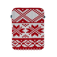 Crimson Knitting Pattern Background Vector Apple Ipad 2/3/4 Protective Soft Cases