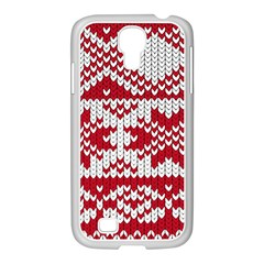 Crimson Knitting Pattern Background Vector Samsung Galaxy S4 I9500/ I9505 Case (white)