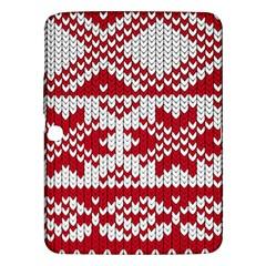 Crimson Knitting Pattern Background Vector Samsung Galaxy Tab 3 (10.1 ) P5200 Hardshell Case