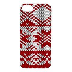 Crimson Knitting Pattern Background Vector Apple iPhone 5S/ SE Hardshell Case