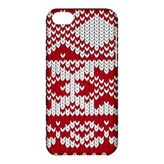 Crimson Knitting Pattern Background Vector Apple Iphone 5c Hardshell Case
