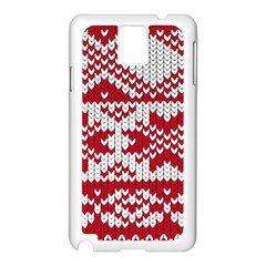 Crimson Knitting Pattern Background Vector Samsung Galaxy Note 3 N9005 Case (white)