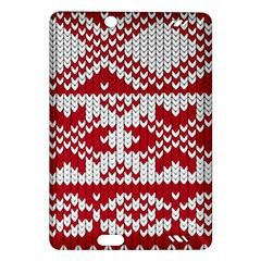 Crimson Knitting Pattern Background Vector Amazon Kindle Fire HD (2013) Hardshell Case