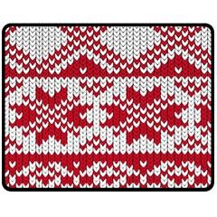 Crimson Knitting Pattern Background Vector Double Sided Fleece Blanket (Medium)