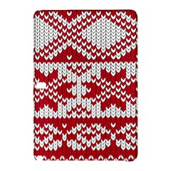 Crimson Knitting Pattern Background Vector Samsung Galaxy Tab Pro 12 2 Hardshell Case