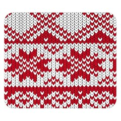 Crimson Knitting Pattern Background Vector Double Sided Flano Blanket (small)