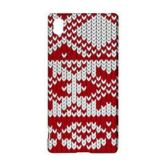 Crimson Knitting Pattern Background Vector Sony Xperia Z3+