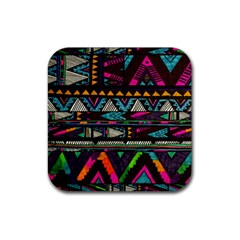 Cute Hipster Elephant Backgrounds Rubber Coaster (square)