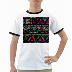 Cute Hipster Elephant Backgrounds Ringer T Shirts