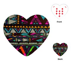 Cute Hipster Elephant Backgrounds Playing Cards (heart)
