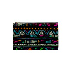 Cute Hipster Elephant Backgrounds Cosmetic Bag (small)