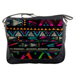 Cute Hipster Elephant Backgrounds Messenger Bags