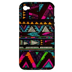 Cute Hipster Elephant Backgrounds Apple iPhone 4/4S Hardshell Case (PC+Silicone)