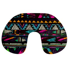 Cute Hipster Elephant Backgrounds Travel Neck Pillows