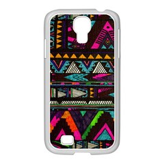 Cute Hipster Elephant Backgrounds Samsung GALAXY S4 I9500/ I9505 Case (White)