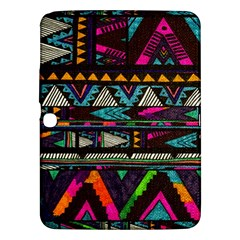 Cute Hipster Elephant Backgrounds Samsung Galaxy Tab 3 (10.1 ) P5200 Hardshell Case