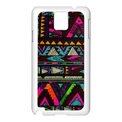 Cute Hipster Elephant Backgrounds Samsung Galaxy Note 3 N9005 Case (White)
