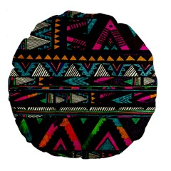 Cute Hipster Elephant Backgrounds Large 18  Premium Flano Round Cushions