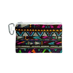 Cute Hipster Elephant Backgrounds Canvas Cosmetic Bag (S)