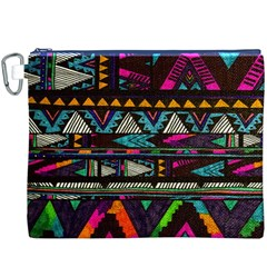 Cute Hipster Elephant Backgrounds Canvas Cosmetic Bag (xxxl)