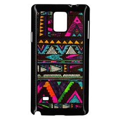 Cute Hipster Elephant Backgrounds Samsung Galaxy Note 4 Case (Black)