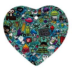 Comics Ornament (Heart)