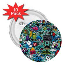 Comics 2.25  Buttons (10 pack)