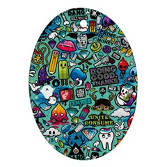 Comics Oval Ornament (Two Sides)