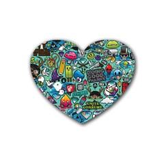 Comics Heart Coaster (4 pack)