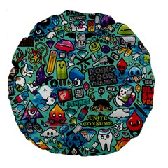 Comics Large 18  Premium Round Cushions
