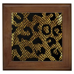 Metallic Snake Skin Pattern Framed Tiles