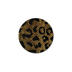 Metallic Snake Skin Pattern Golf Ball Marker