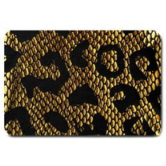 Metallic Snake Skin Pattern Large Doormat
