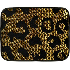 Metallic Snake Skin Pattern Fleece Blanket (Mini)